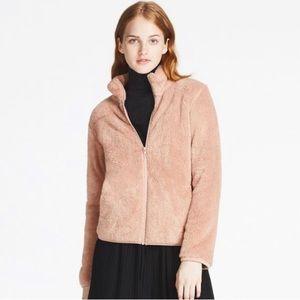 Uniqlo Pink Fuzzy Jacket